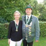 Schützenkönig 2016 Andre Klüver mit seiner Frau Jasmin