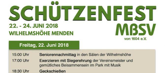 Schützenfest des Mendener Bürger-Schützen-Vereins von 1604