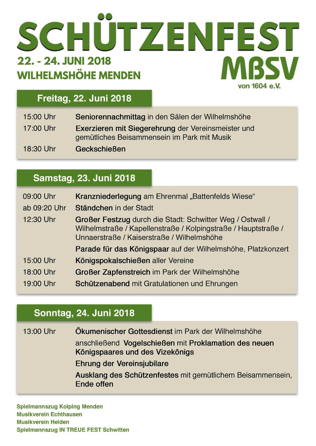 Plakat Schützenfest 2018 MBSV 1604